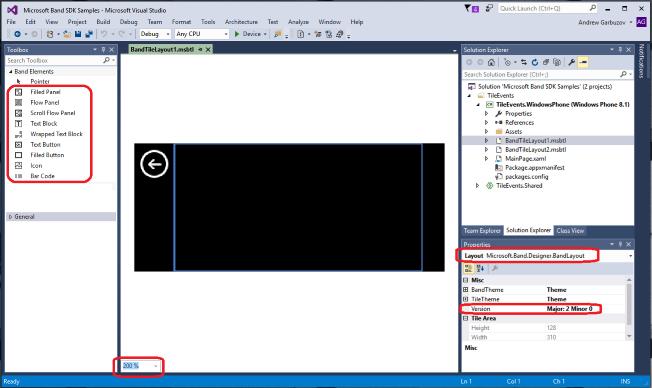 Microsoft Band Tile Designer Preview - Visual Studio Marketplace